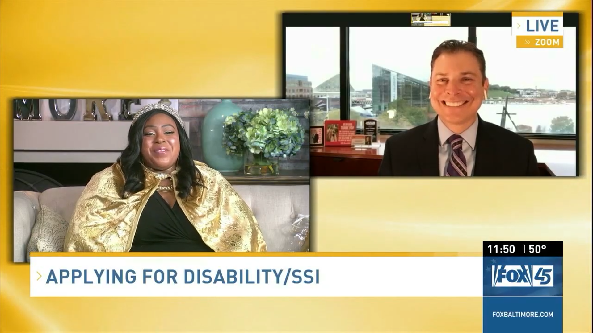 Scott Breaks Down the SSI/SSDI Application process Live with Lady T on Bmore Lifestyle